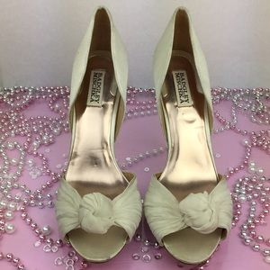 Badgley Mischka Bridal Open Toe Stiletto Heels